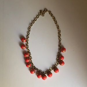 JCrew coral bauble necklace